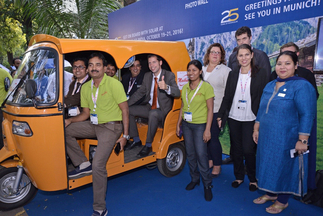 Everyone had fun at the worldwide Intersolar photo booths, here at Intersolar India
