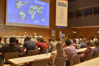 Markus Elsässer (CEO, Solar Promotion GmbH) welcomed the audience at Intersolar Europe