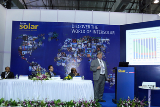 Professor Eicke Weber presents at the Intersolar Study Program during Intersolar India 2015