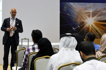 Cornelius Matthes (Managing Director, Building Energy SpA) gave an inspirational speech at Intersolar Middle East's Study Program