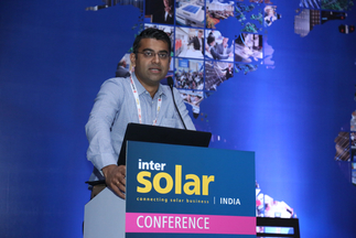 Sishir Garemella (Founder and Chief Executive Officer, Sunvest Energy Private Limited, India) gave an interesting speech at Intersolar India's Study Program 2016