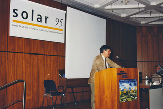 From the very beginning, Intersolar's founders have been guided by the vision of a solar future. Today Intersolar is a meeting place for the international solar industry and its partners. Picture: Hermann Scheer, Inventor of the Renewable Energy Law.