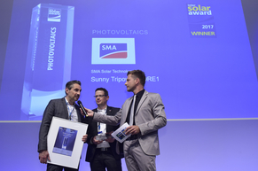 """SMA Solar Technology AG was honored for their product """"Sunny Tripower CORE1"""""""