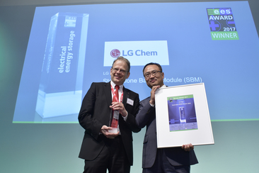 "LG Chem was honored for the ""Stand-alone Battery Module (SBM)"""