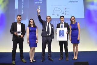 """Intersolar AWARD: Krinner Solar GmbH was honored for """"CAS²– Computer Aided Solar Structure"""""""