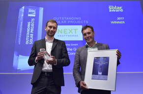 """Next Kraftwerke was honored for their """"Virtual Power Plant for Constant Power Supply"""""""
