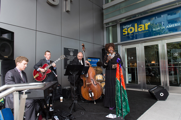"At Intersolar North America, visitors grooved to ""The Dynamic Faye Carol & Her Amazing Band"""