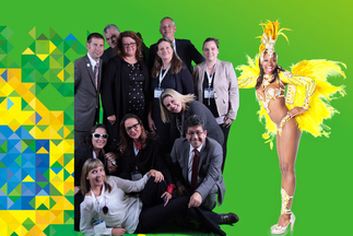 Everyone had fun at the worldwide Intersolar photo booths, here at Intersolar South America