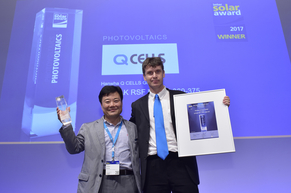 """Hanwha Q CELLS GmbH was honored for their product """"Q.PEAK RSF L-G4.2 360-375"""""""