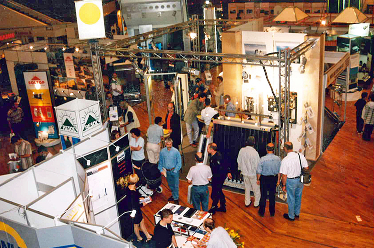 In Pforzheim, Solar `97 showcases a small but innovative industry. It starts as a small exhibition in 1991 with five solar companies presenting their products to solar enthusiasts and environmentalists.
