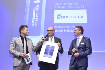 "Goldbeck Solar GmbH was honored for their project ""Landfill Hellsiek"""